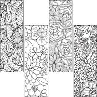 Colouring Book Mark Activity Pack-Floral Bookmark