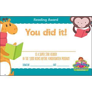 Reading Award Certificate