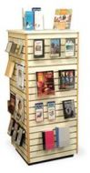 Four Side Slatwall New Arrivals Display Tower