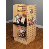 Book Display Furniture- Slatwall H Frame Compact Display Shelves