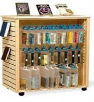 Mobile Hang Bags Display Shelves