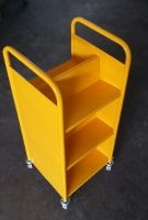 Economical End Of Range Steel Trolley 6 Sloped Shelves
