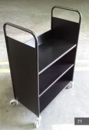 Economical Steel Book Trolley 3 Slop Shelves