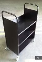 Economical Steel Book Trolley 3 Slop Shelves 15PMT316-3S