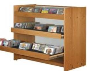 CD DVD Wooden Display Rack