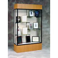Glass Display Case Wood Base