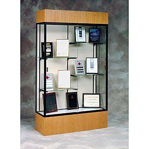 Glass Display Case Standard Wood Base