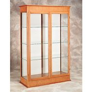 Full Height Wood Frame Glass Case