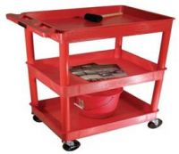 Economy Small Plastic 3 Level Utility Carts