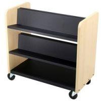 Laminate Wood Book Trolley- 3 shelf.