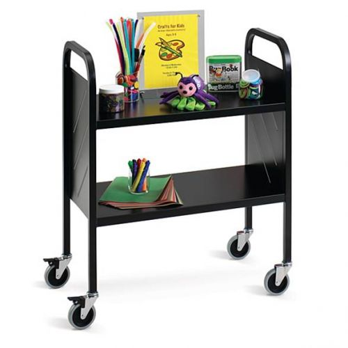 Book Trolley Light Duty 2 Flat Shelf. PD809197