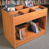 Six Compartments Books Browsing Cart
