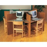 Study Carrels Hexagon 6 Seater Design 19PMT713-5064HX