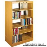Classic Design Laminate Wood Double Face Book Shelves