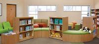 Divider Book Shelves With Extra Large Cushion Seat Package C