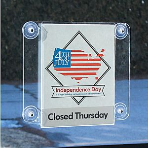 Glass Mounting Sign