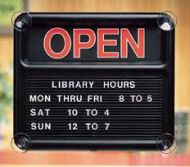 Open & Close Glass Mount Sign .PD149-1332