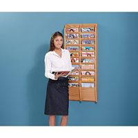 Wall Mount Magazine Display Rack Wooden Mallet design