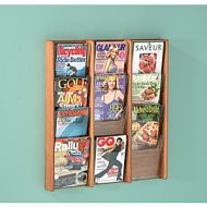 Wooden Mallet Stance Wall Mount Magazine Rack