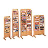 Magazine Rack -Wooden Mallet Cascading Floor Rack