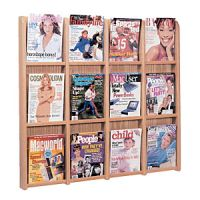 Wooden Mallet Divulge Wall Mount Magazine Rack