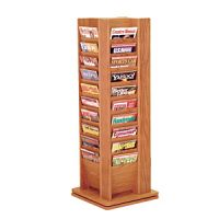 Wooden Cascade 40 Pocket Magazine Tower