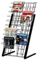 Wire Magazine Floor Display Rack 20 Pockets