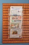 Acrylic Ladders Design 6 Pockets Newspaper Rack