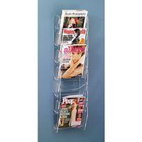 Acrylic Ladders Design 6 Pocket Magazine Rack