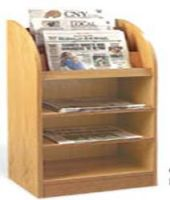 Newspaper Display Cabinet with Open Shelves 16PMT840-7951