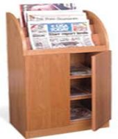 Newspaper Display Cabinet with Door