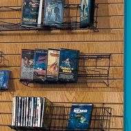 Wire Slatwall Paperback DVD Shelf