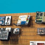Wire Slatwall Small Straight Shelf