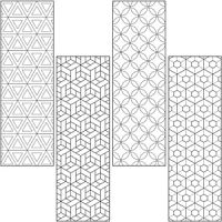 Coloring Book Mark Activity Pack -Geometric Design