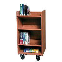 Laminate Wood Narrow Book Display Trolley 14PMT311-3551BK