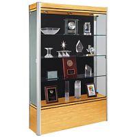 Exhibit Display Glass Cabinet- High Wood Base