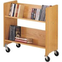 Laminate Wood Book Trolley 2 slop shelf.