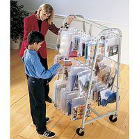 Mobile Steel Hang Bags Rack PD122-4948-9