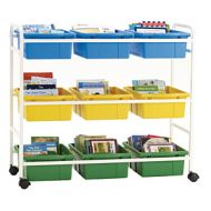 Mobile Storage & Browsing Cart 9 Tubs  PD149-0253