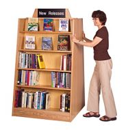 Open Top Mobile Laminate Wood Book Shelves
