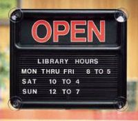 Open & Close Glass Mount Sign. PD149-1332