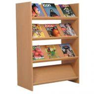 Magazine Rack Custom Design 4 Slop Shelves