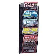 SAFCO Mesh Magazine Wall Rack 5 pockets. PD132-0686