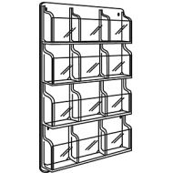 Clear Plastic Magazine/Literature 12 Pocket Wall Displays. PD149-0137