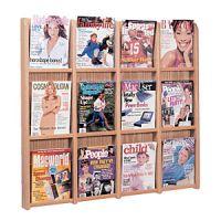 Wooden Mallet Divulge Wall Mount Magazine Rack