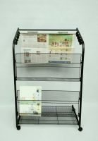 Magazine Newspaper Display Rack 6PMTC13-750BE4