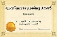 Reading Award Certificate. PD122-6324