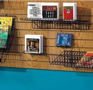 Wire Slatwall Multi-purpose Shelf with Lip