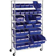 UtraZinc Mobile Rack System with 24 Bins