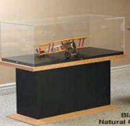 Artefact Display Glass Case Wood Frame Base